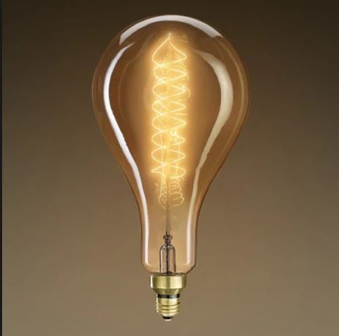 Lamp parts lighting parts chandelier parts 60w ps 56 grand 60w ps 56 grand nostalgic e 26 base antique finish spiral filament bulb aloadofball Gallery