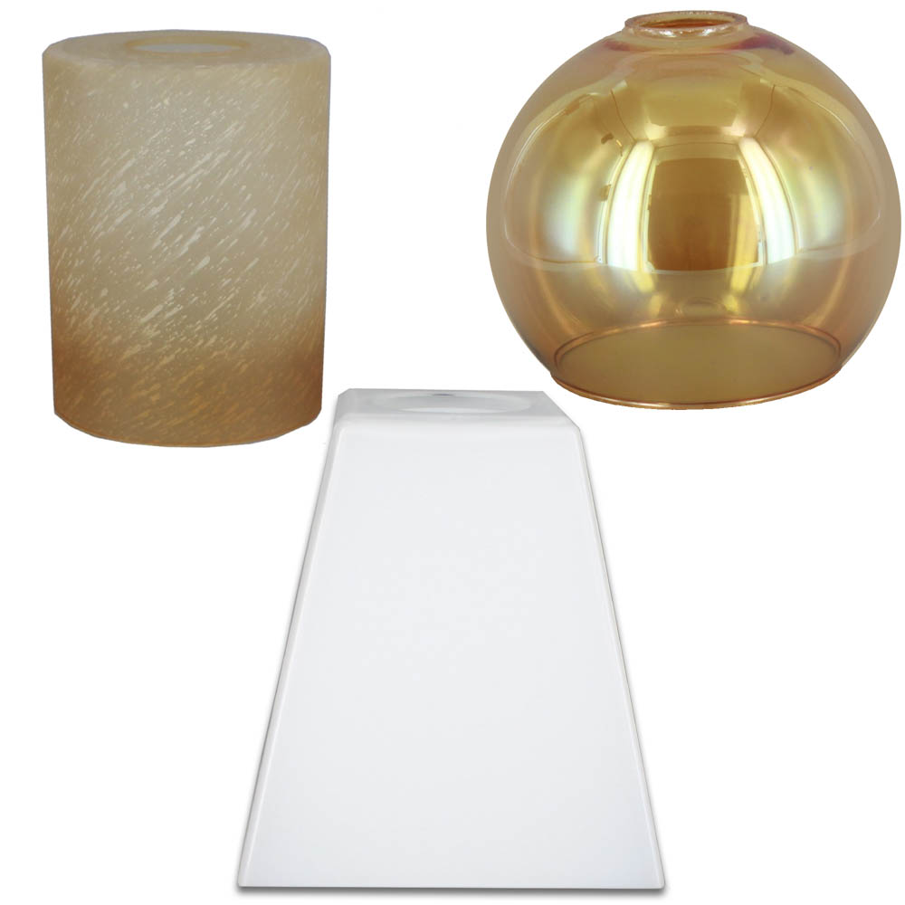 1-5/8in Hole Glass Lamp Shades