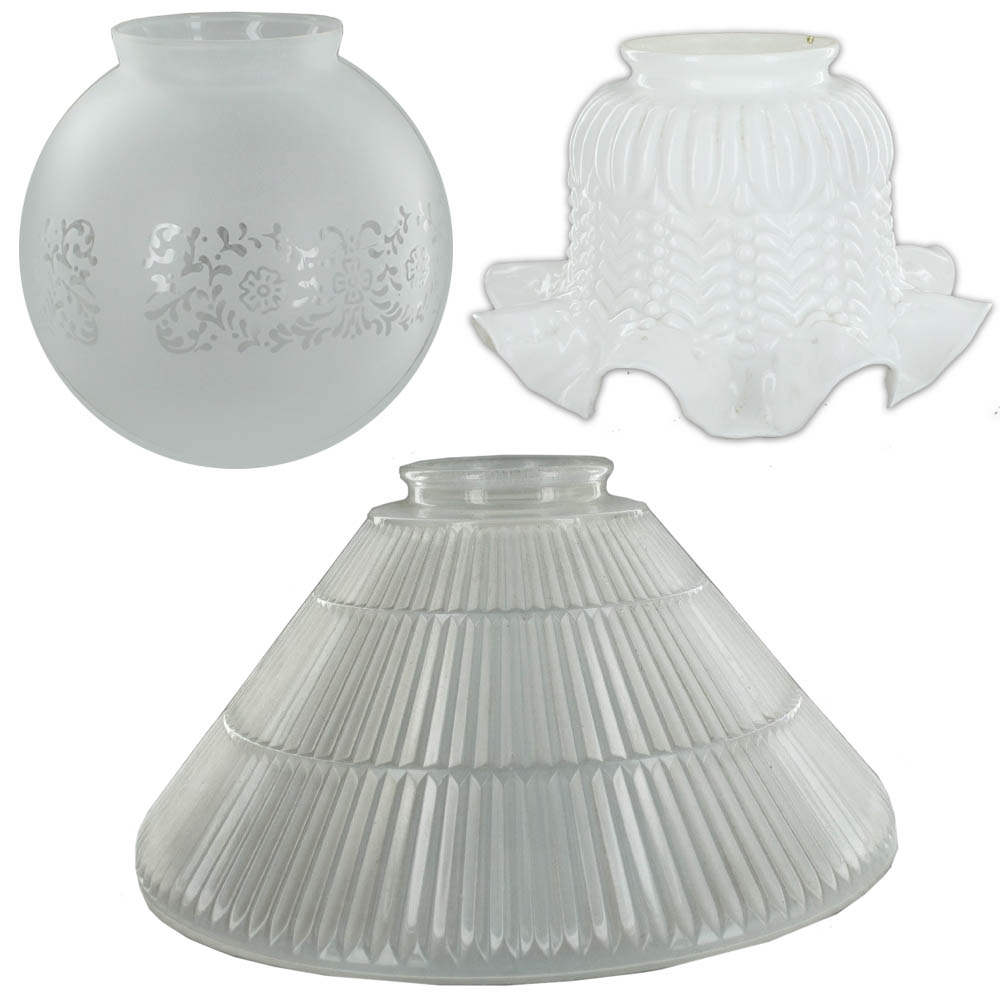 3-1/4in Fitter Glass Lamp Shades
