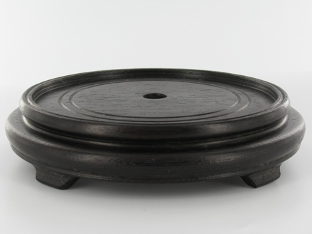 Beautiful Round Teak Wood Base   3 Feet   Dark Mahogany