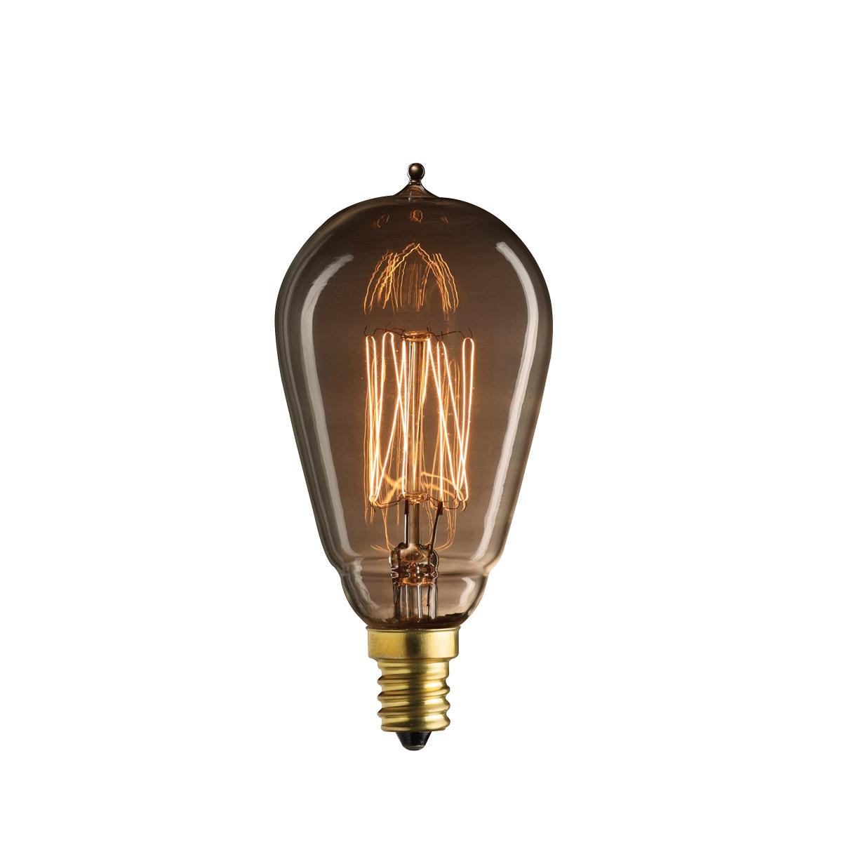 Lamp parts lighting parts chandelier parts 25w mini squirrel 25w mini squirrel cage filament e 12 base antique style bulb aloadofball Choice Image