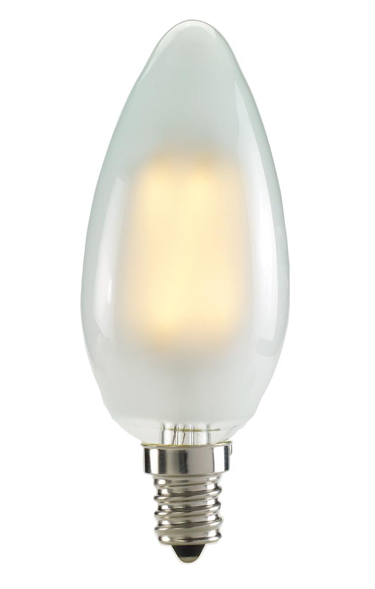 2.5W LED B11 2700K FILAMENT FROST E12 120V FULLY COMPATIBE DIMMING BULB