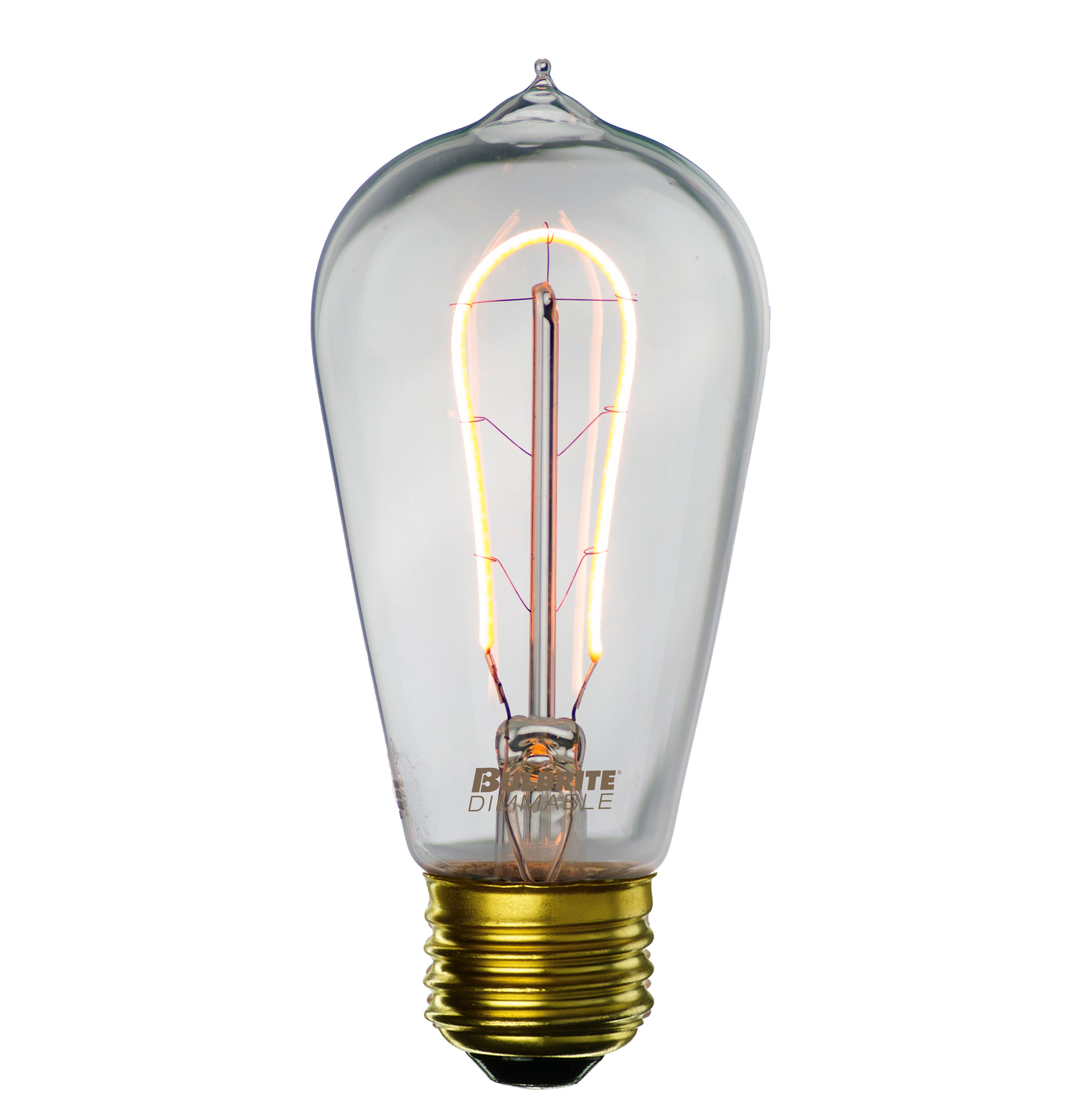 Lamp parts lighting parts chandelier parts 2w 25w st 18 style 2w 25w st 18 style hairpin curved filament led bulb mozeypictures Gallery