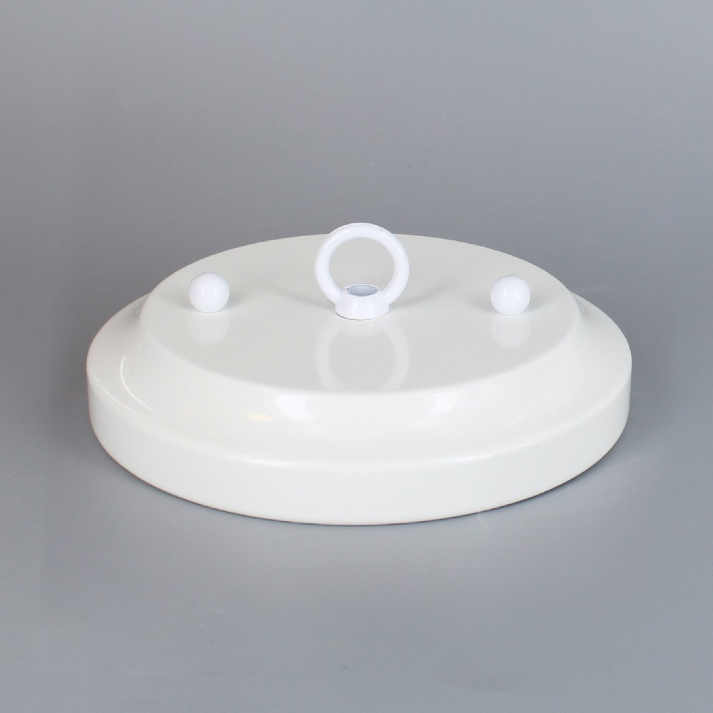 Lamp parts lighting parts chandelier parts white powder coated white powder coated 5in diameter canopy kit with 716in center hole and 2 34in mounting barholes arubaitofo Gallery