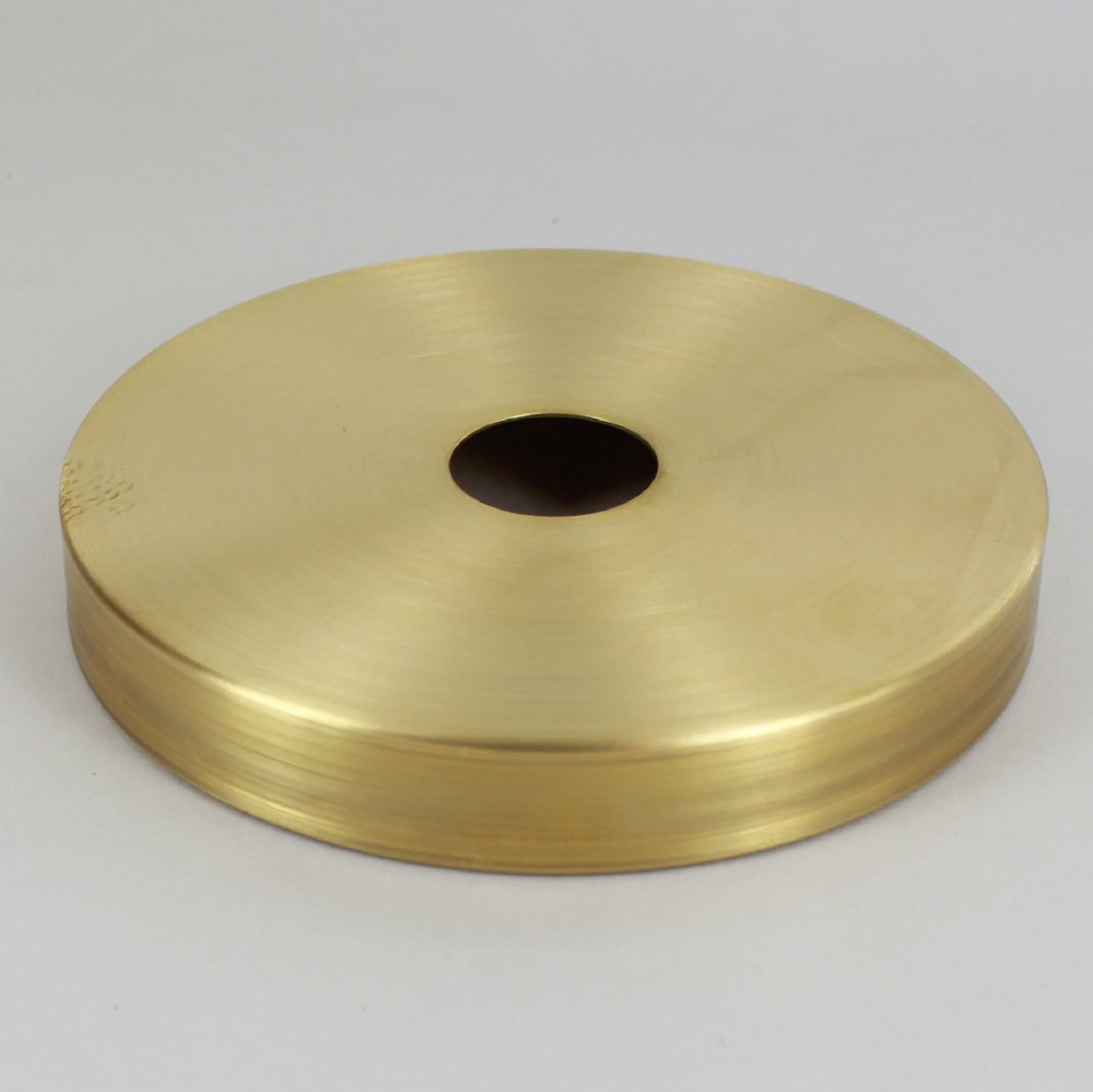 5in Diameter X 3/4in Height Plain Unfinished Brass Canopy With 1 1/16in  Center Hole