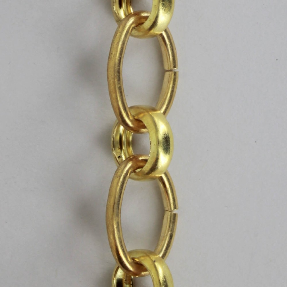 UNFINISHED BRASS SMALL OVAL AND ROUND LINK CHAIN