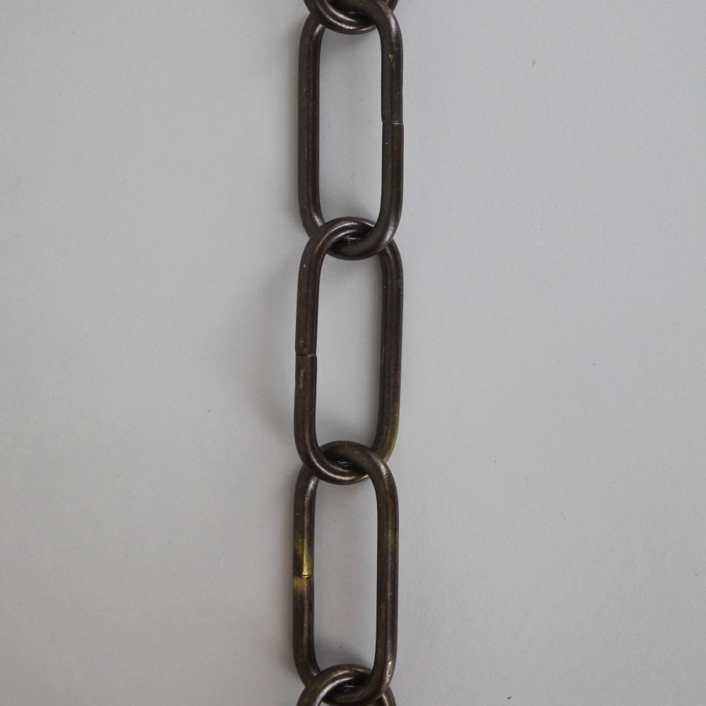 1/8in Thick Oval Lamp Chain - Antique Bronze Finish