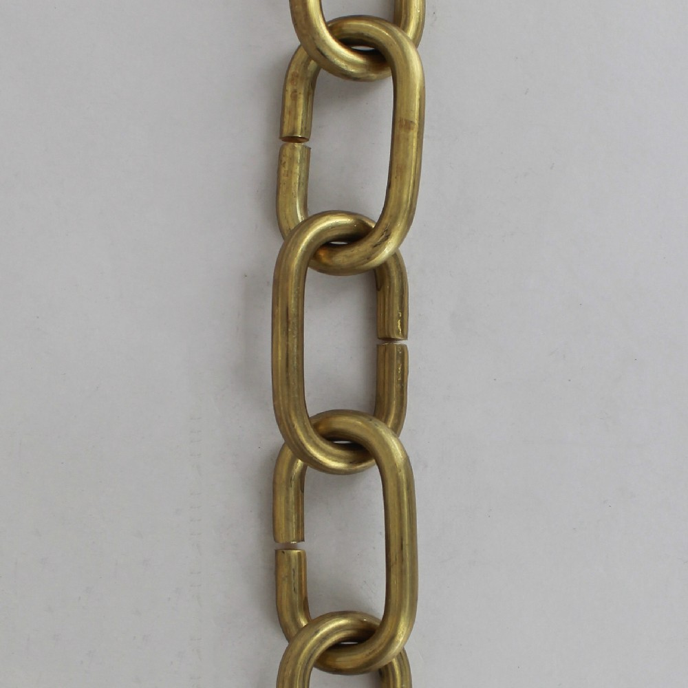 9/32 IN THICK UNFINISHED BRASS OVAL CHAIN