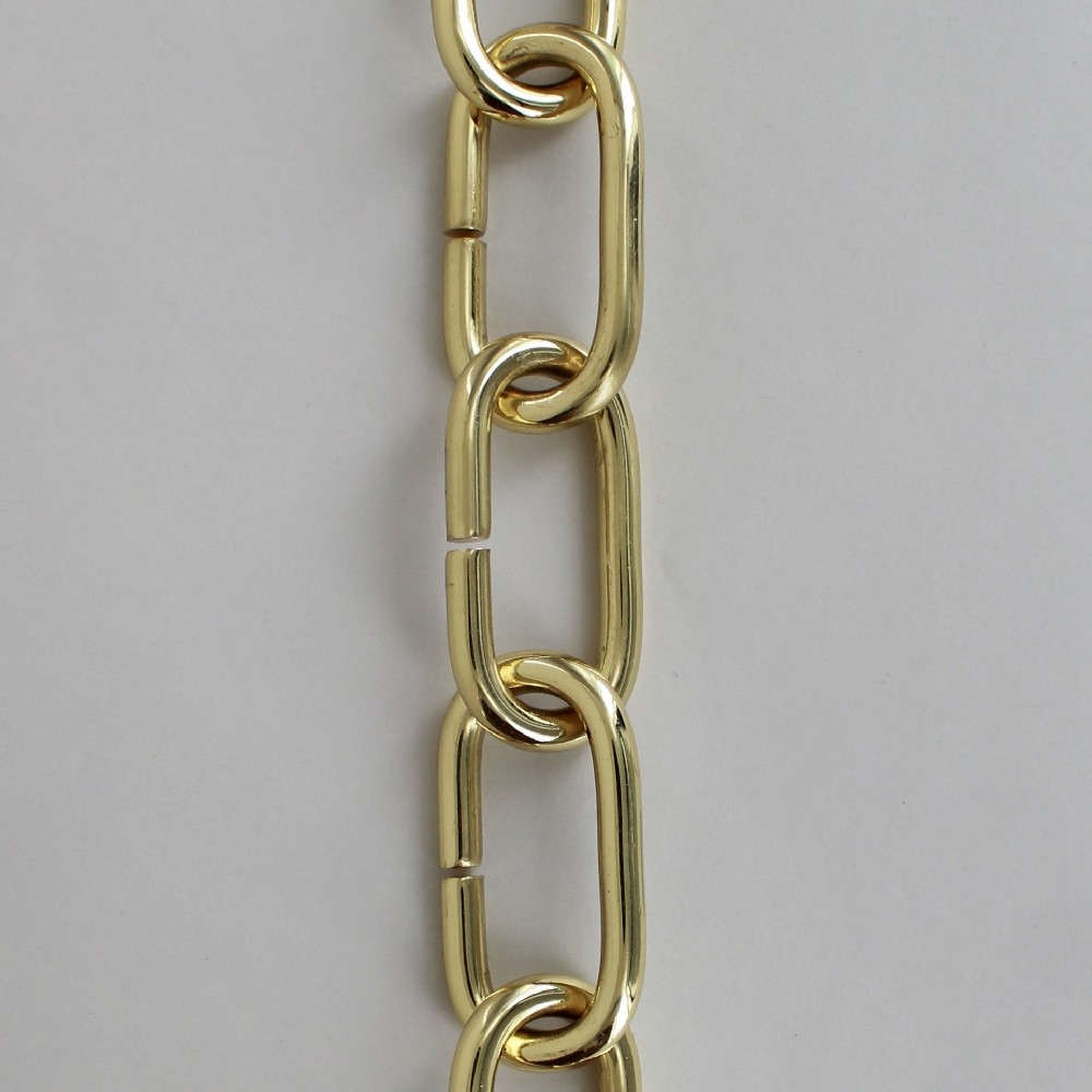 POLISHED BRASS SOLID BRASS LARGE OVAL 5/16IN. THICK CHAIN