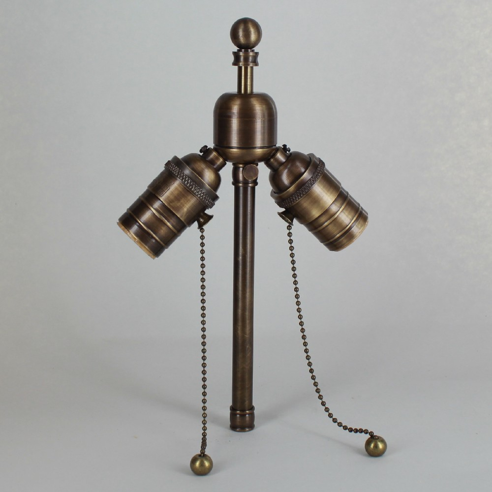 Antique Brass Finish Adjustable Stem Cluster With 3/4in. Ball Finial