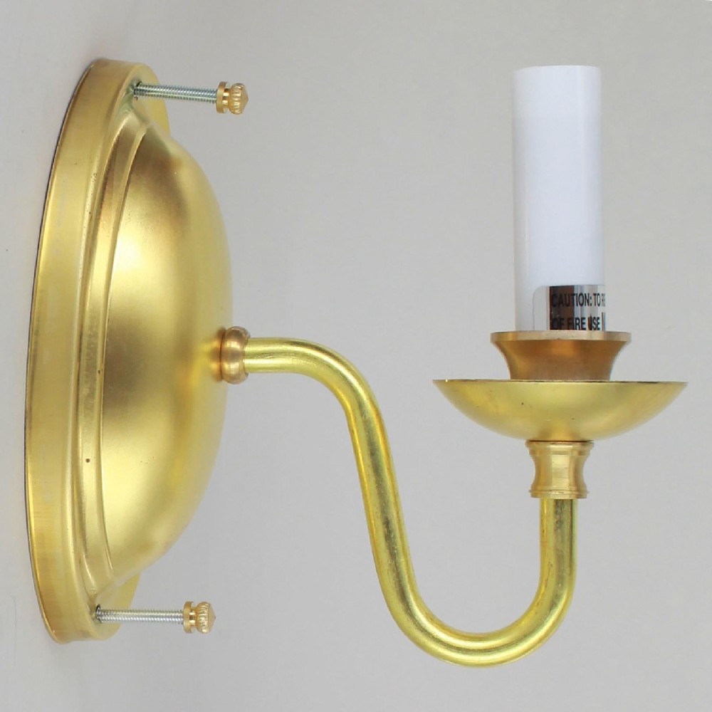 Lamp parts lighting parts chandelier parts single arm single arm unfinished solid brass candelabra base wall sconce audiocablefo