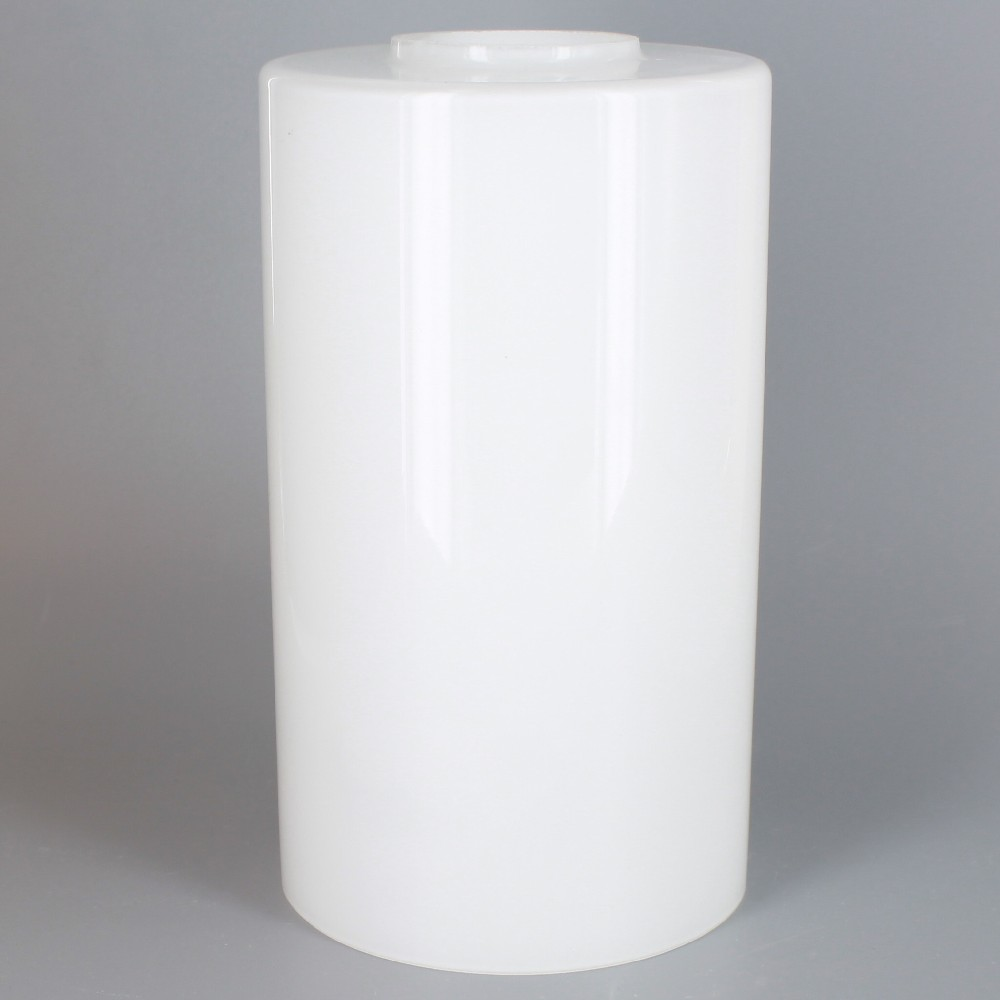 3 94in Diameter X 6 97in Height White Opal Cylinder Gl Shade With 1 5