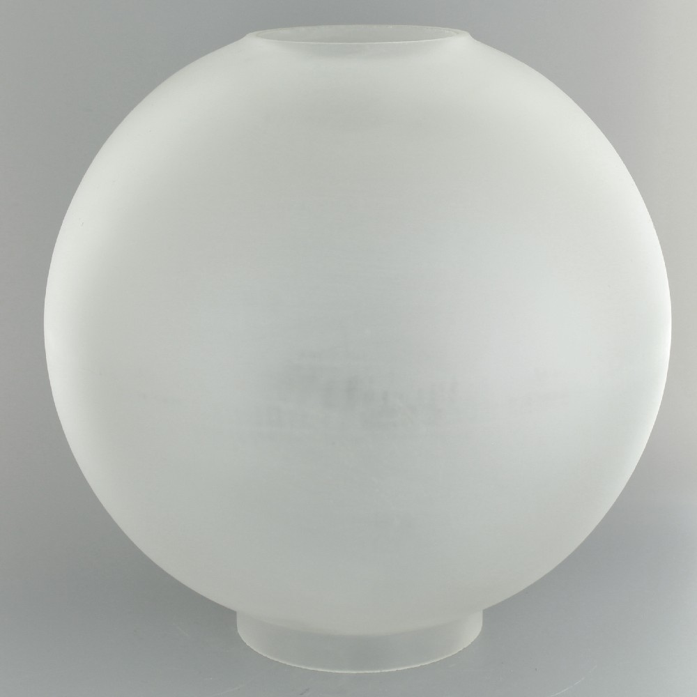 10in Open Plain Frosted Ball With 4in Bottom Er