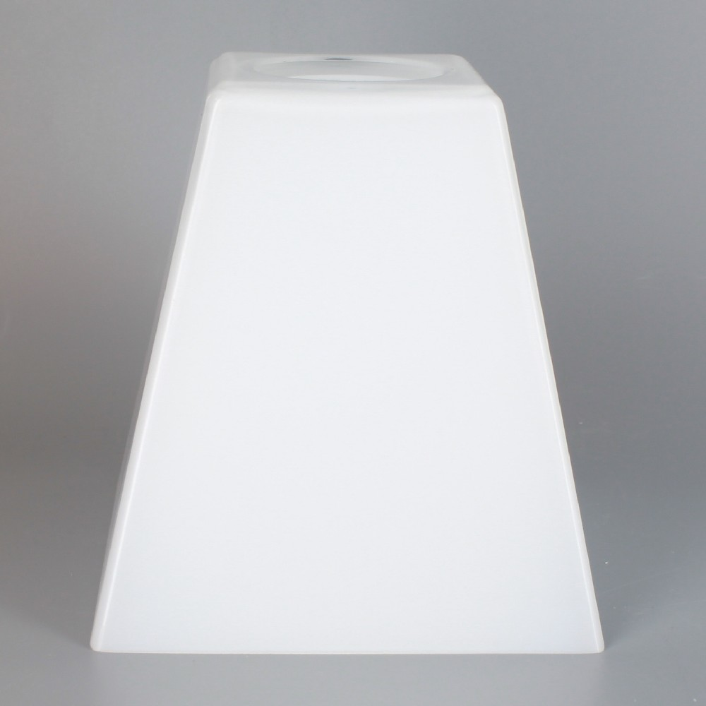 White Square Gl Cone Shade With 1 5 8in Hole For Use Cusq100