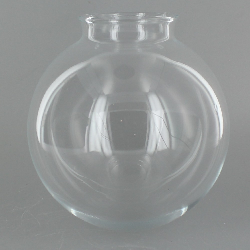 Clear Glass Ball With 2 1 4in Neck