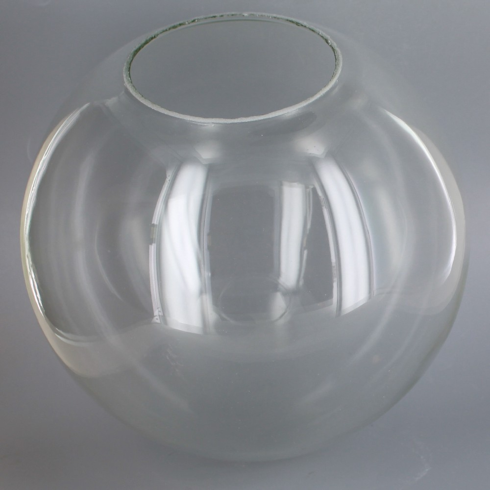Lamp parts lighting parts chandelier parts 10in hand blown hand blown clear glass ball with 4in hole neckless usa aloadofball Gallery