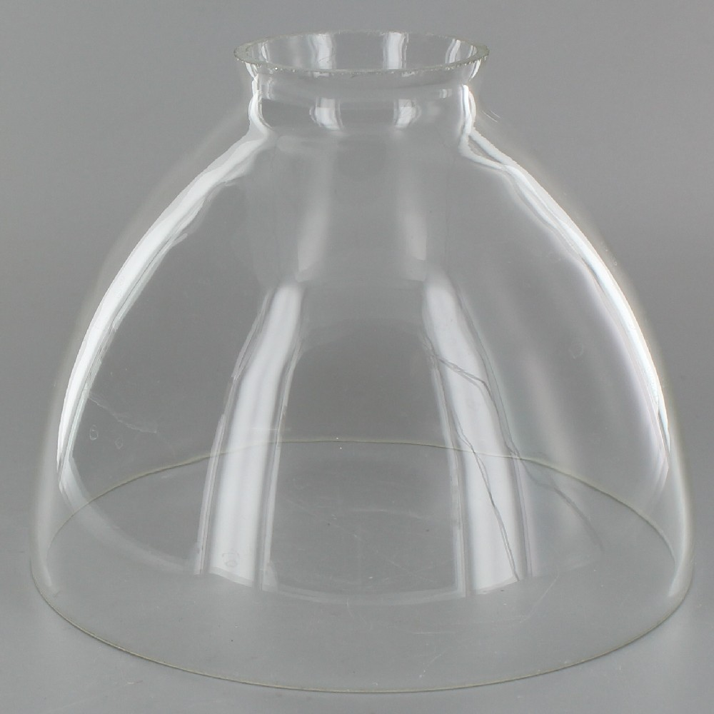 Lamp Parts Lighting Parts Chandelier Parts 6in Top Hand Blown Ies Clear Glass Shade With