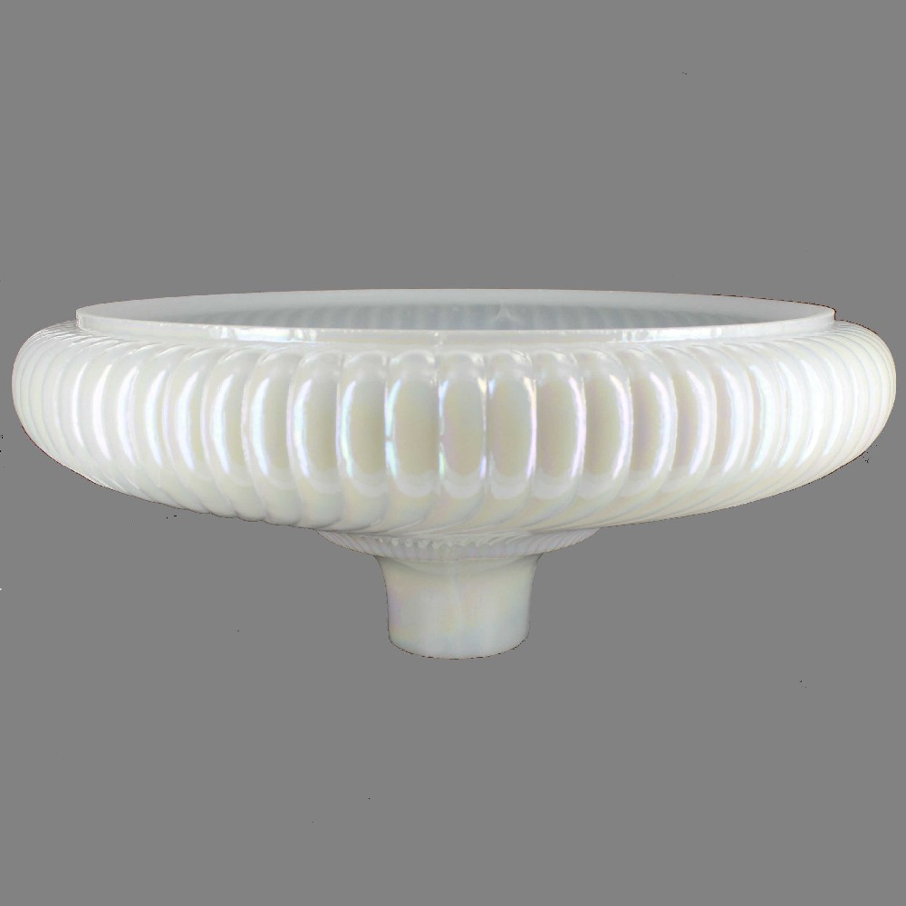 16in. Pearl Ribbed Swirl Torchiere Shade with 2-3/4in. Neck