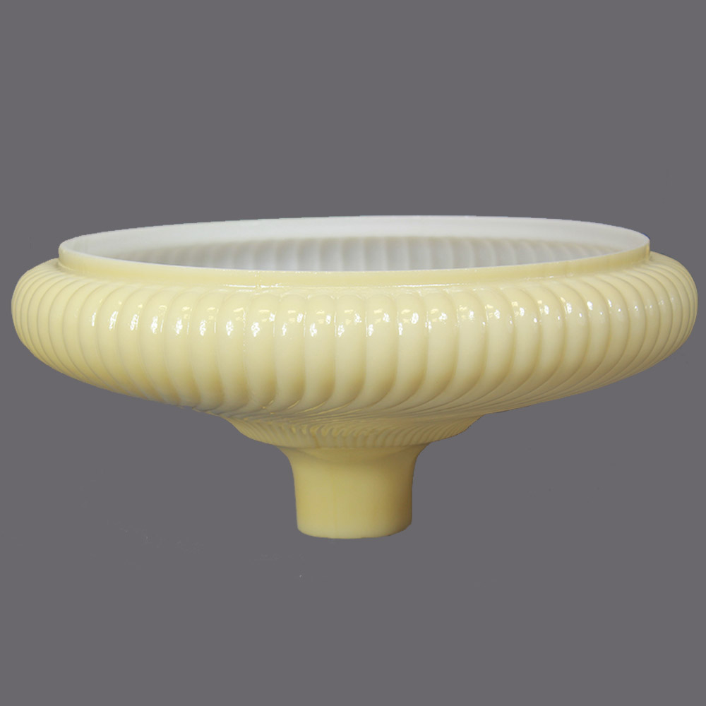 16in. Buff Ribbed Swirl Torchiere Shade with 2-3/4in. Neck
