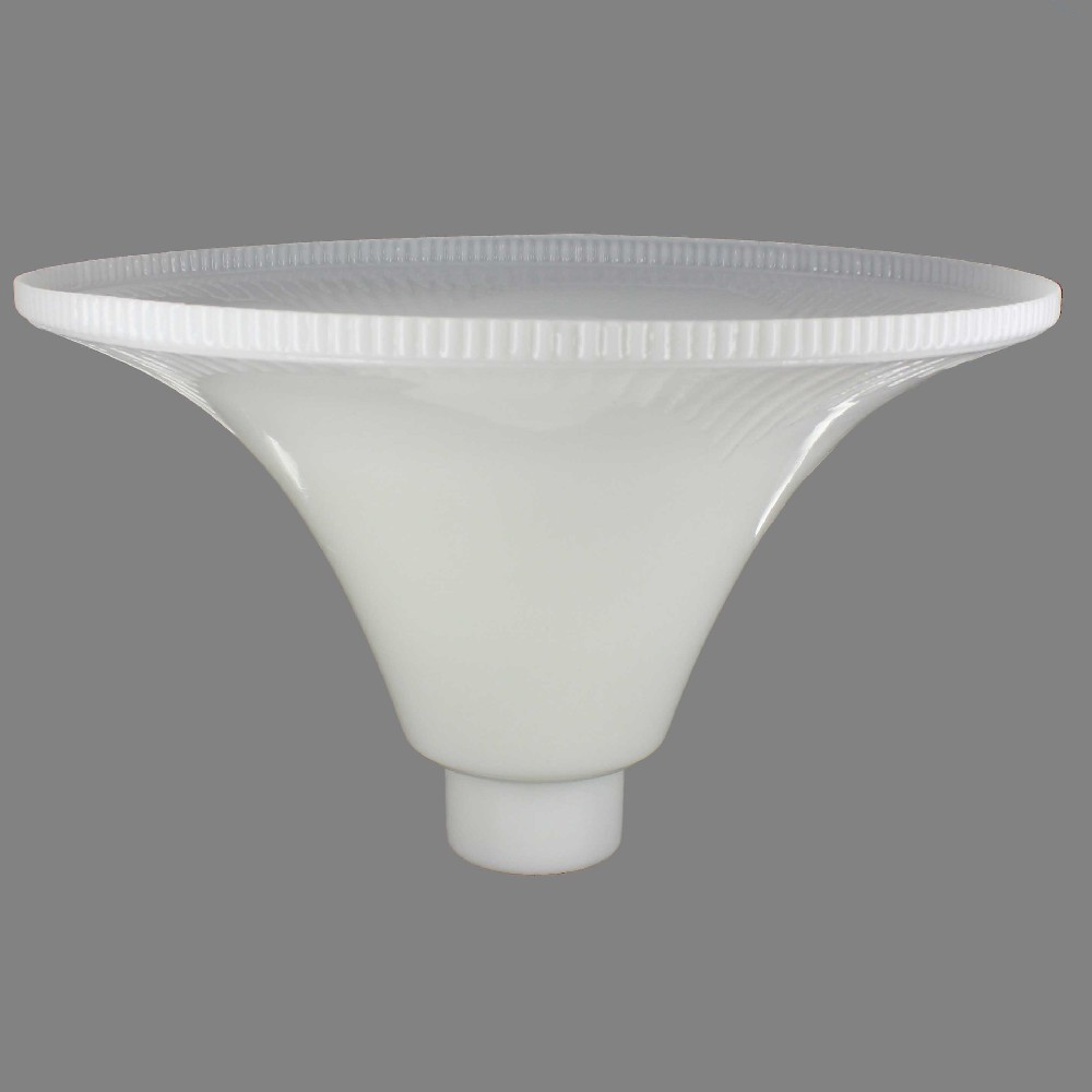 14IN. OPAL WHITE TORCHIERE SHADE WITH 2-5/8IN. NECK