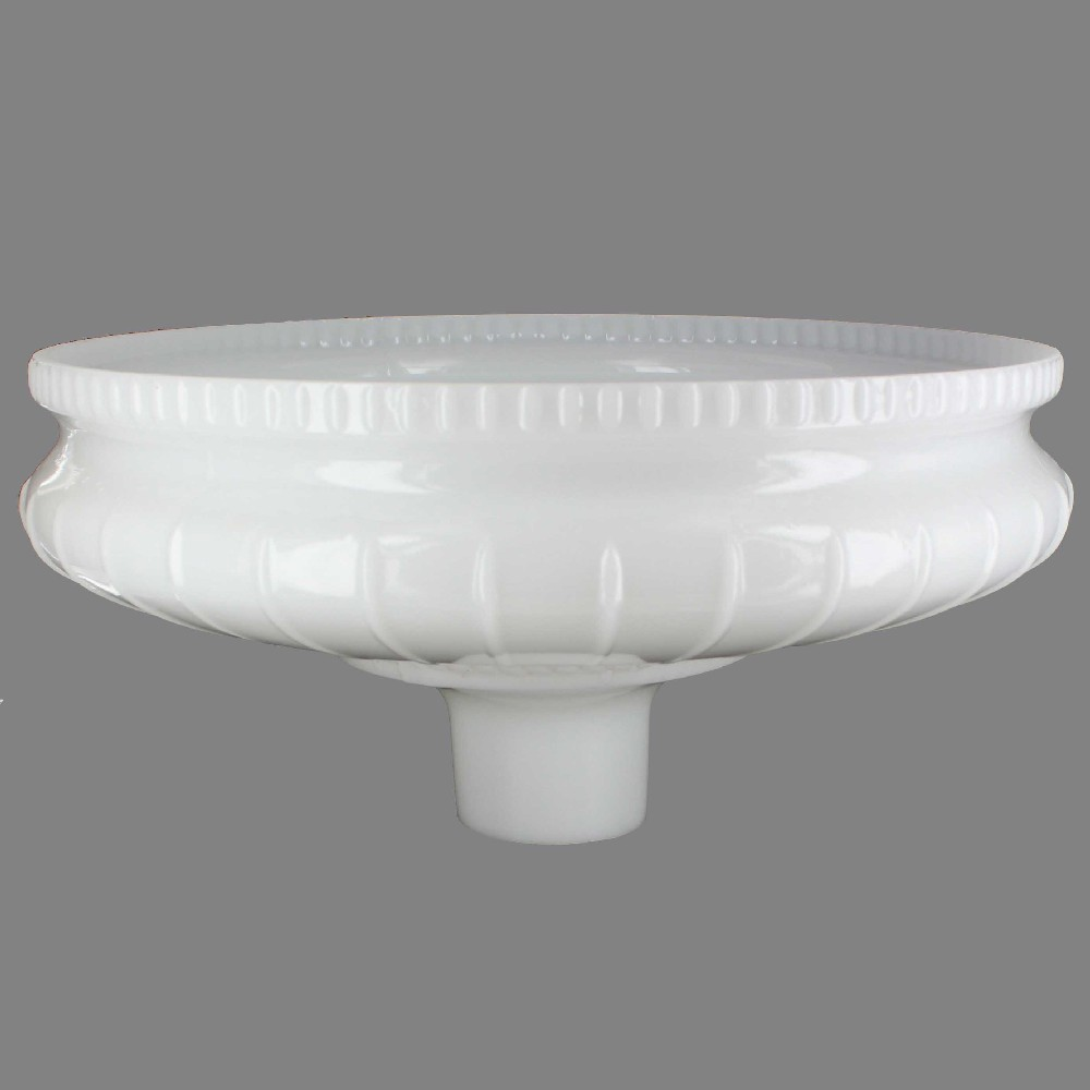 13-3/4in. Opal White Torchiere Shade with 2-3/4in. Neck