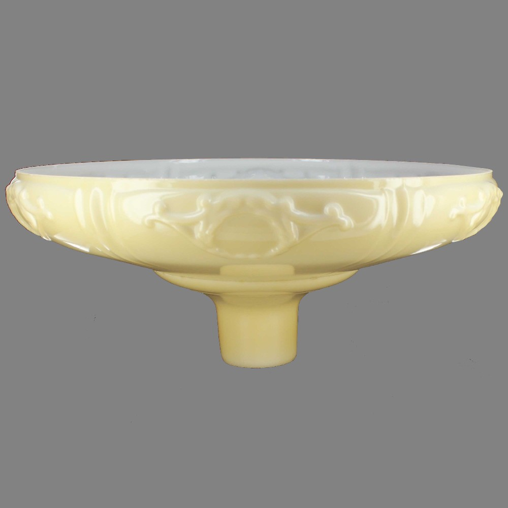16-1/4in. Buff Color French Design Torchiere Shade with 2-3/4in. Neck