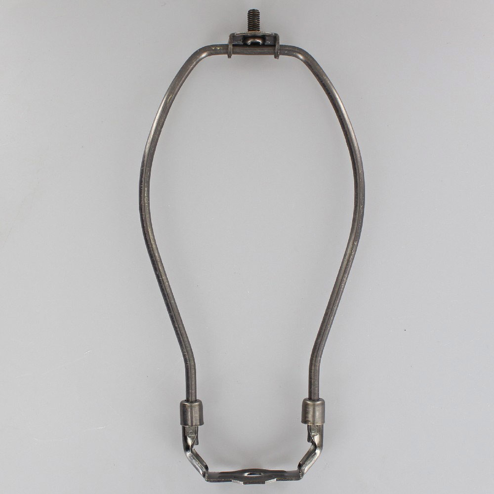 "15/"" TALL ANTIQUE BRASS FINISH HEAVY DUTY LAMP HARP LAMP PART NEW 12767AJB"