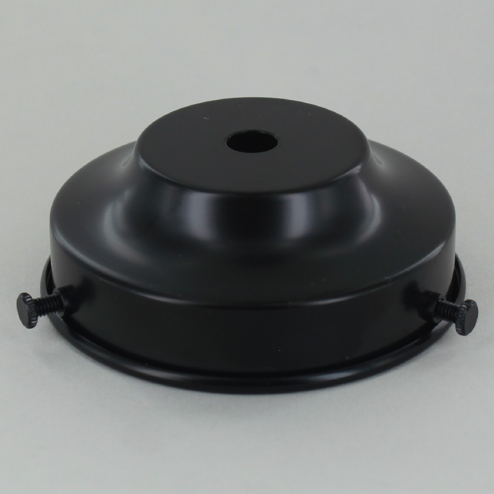 Lamp parts lighting parts chandelier parts 3 14in flat black flat black powdercoatd steel shade holder aloadofball Images