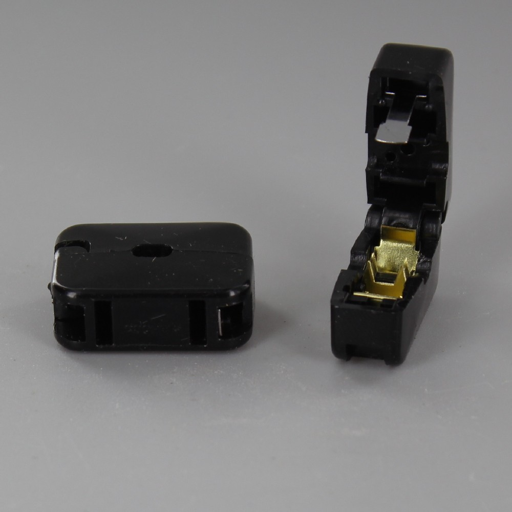 BLACK ADD-A-TAP IN LINE PASS THROUGH CLICK-ON FEMALE NON POLARIZED OUTLET