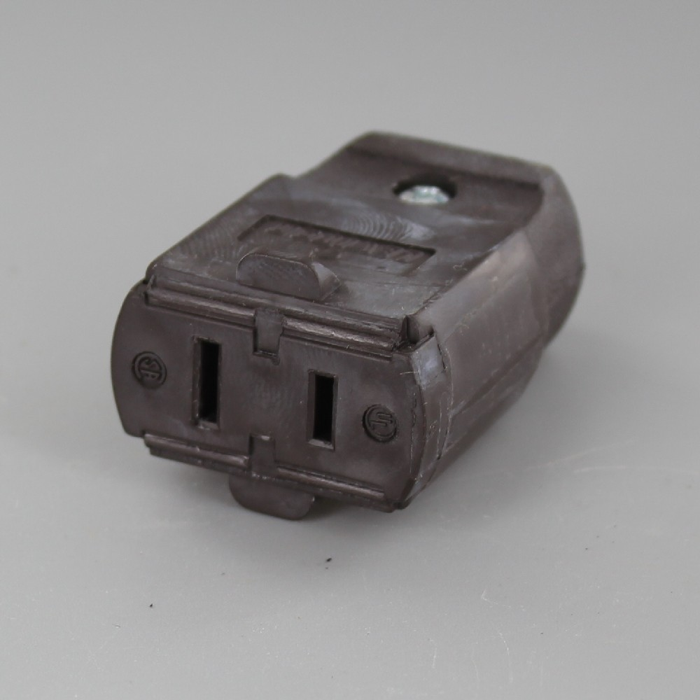 Brown - Polarized Light Duty Clamp-Tight Connector Outlet